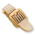 Striped Bag Clasp (Gold)