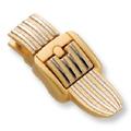 Striped Bag Clasp (Gold)